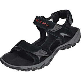 Columbia Santiam 3 Strap Sandalen Heren, black/mountain red
